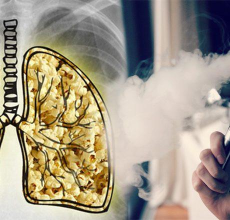 """Czy wdychanie liquidu z THC powoduje efekt """"popcornowego płuca""""?"""