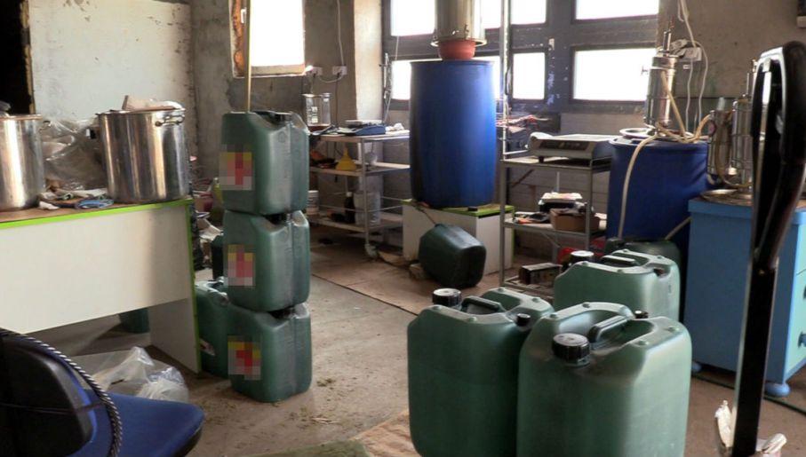 zlikwidowano duża fabrykę olejku konopnego