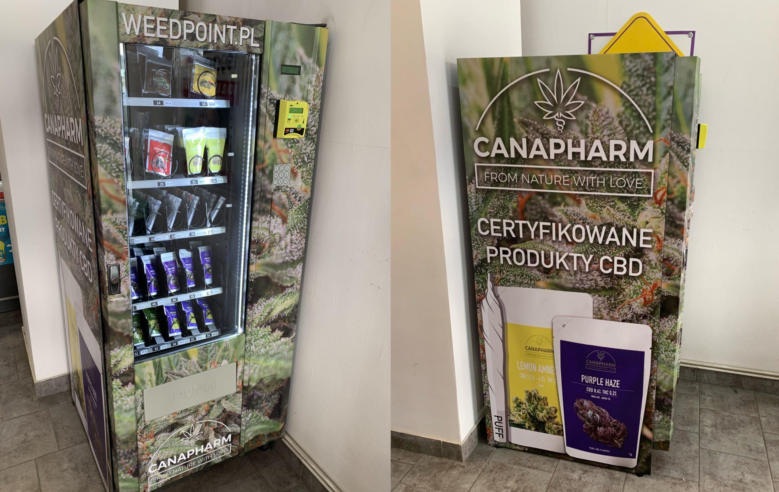 Pierwszy w Polsce automat WEEDPOINT sprzedający susz stanął we Wrocławiu!