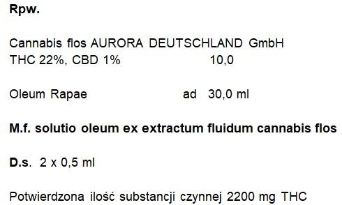 olej z medycznej marihuany recepta